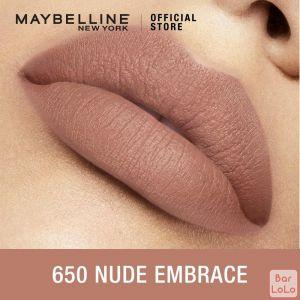MAYBELLINE NEW YORK COLOR SENSATIONAL CREAMY MATTE LIPSTICK 650 NUDE EMBRACE 3.9G(G3531400)-62662