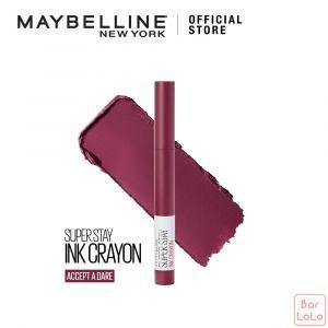 MAYBELLINE SUPER STAY INK CRAYON MATTE LIPSTICK 60 ACCEPT A DARE-73394