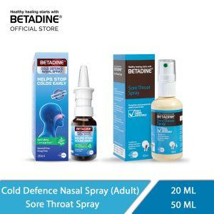 Betadine Sore Throat Spary & Cold Defence Nasal Adult (50 ml & 20 ml)