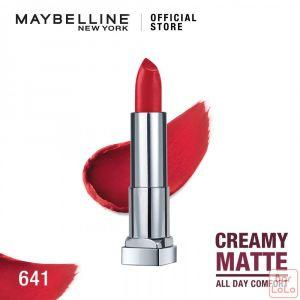 MAYBELLINE NEW YORK COLOR SENSATIONAL CREAMY MATTE LIPSTICK 641 PINK MY RED 3.9G(G3571400)-62629