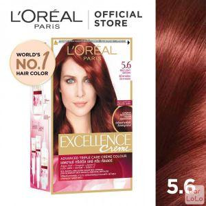 LOREAL PARIS EXCELLENCE CREME HAIR COLOR 5.6 RED LIGHT BROWN 172 ML (G1131500)-63510
