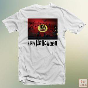Men T-Shirt (Happy Halloween) (L)-75153