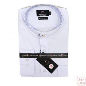 Stick Collar Shirt Long Sleeves (Exclusive) (MT004XLWH)-62607
