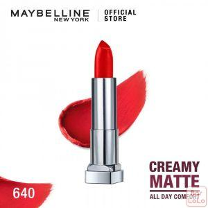 MAYBELLINE NEW YORK COLOR SENSATIONAL CREAMY MATTE LIPSTICK 640 RED LIBERATION 4.2G(G3571300)-62624