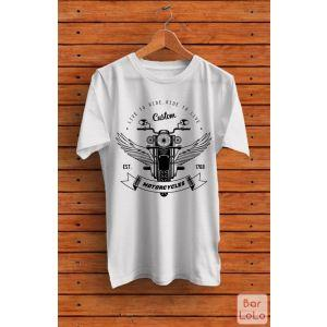 Men T-Shirt (Live To Ride) (S)-76803