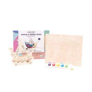 4M Painting 3D Wooden Puzzle (Code-38573)