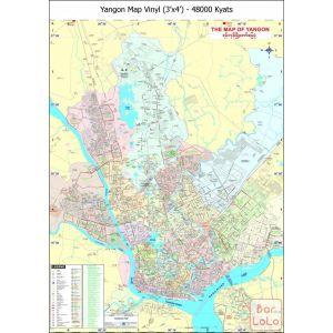DPS Yangon Map Vinyl ( 3' x 4' )