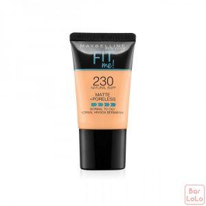 MAYBELLINE NEW YORK FIT ME MATTE & PORELESS FOUNDATION TUBE - 230 NATURAL BUFF(G3644400)-62454