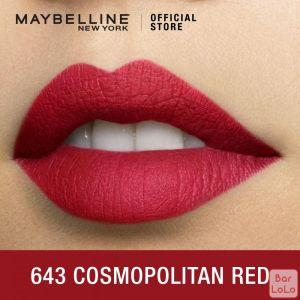 MAYBELLINE NEW YORK COLOR SENSATIONAL CREAMY MATTE LIPSTICK 643 COSMOPOLITAN RED 4.2G(G3572200)-62651