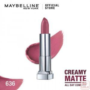MAYBELLINE NEW YORK COLOR SENSATIONAL CREAMY MATTE LIPSTICK 636 LIVELY VIOLET 3.9G(G3573500)-62616