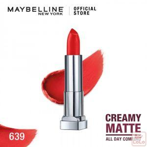 MAYBELLINE NEW YORK COLOR SENSATIONAL CREAMY MATTE LIPSTICK 639 BIG APPLE RED 3.9G(G3573700)-62620