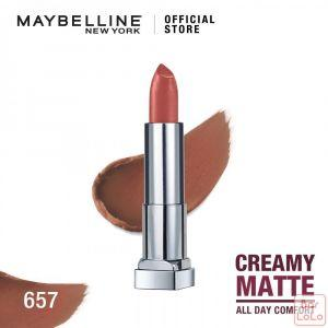 MAYBELLINE NEW YORK COLOR SENSATIONAL CREAMY MATTE LIPSTICK 657 NUDE NUANC 3.9G(G3531500)-62713