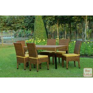 Three Red Star Dining Chair (Code - R-DR-036)-61639