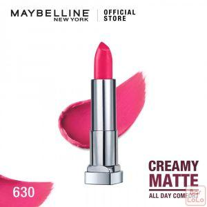 MAYBELLINE NEW YORK COLOR SENSATIONAL CREAMY MATTE LIPSTICK 630 FLAMING FUCHSIA 4.2G(G3572700)-62602