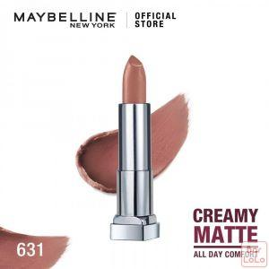MAYBELLINE NEW YORK COLOR SENSATIONAL CREAMY MATTE LIPSTICK 631 MYSTERIOUS MOCHA 3.9G(G3573400)-62606