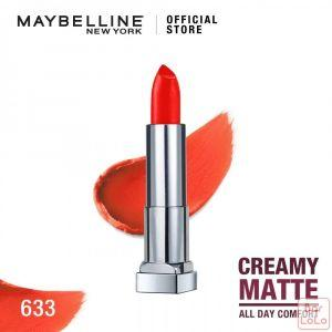 MAYBELLINE NEW YORK COLOR SENSATIONAL CREAMY MATTE LIPSTICK 633 FIRECRACKER RED 4.2G(G3573000)-62611