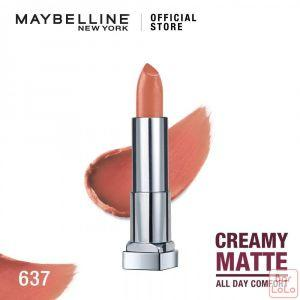 MAYBELLINE NEW YORK COLOR SENSATIONAL CREAMY MATTE LIPSTICK 637 BERELY NUDE 4.2G(G3573200)-62618