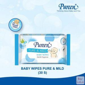 PUREEN BABY WIPES PURE & MILD 30'S (BLUE)-63366
