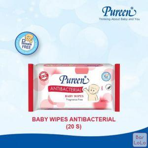 PUREEN BABY WIPES ANTI-BACTERIA 20'S (RED)-63369