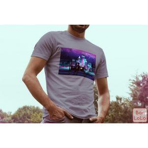 Men T-Shirt (Fireworks) (L)-73972