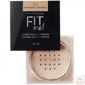 MAYBELLINE NEW YORK FIT ME LOOSE POWDER 20 LIGHT MEDIUM 0.7OZ/20G (K2434200)-63629