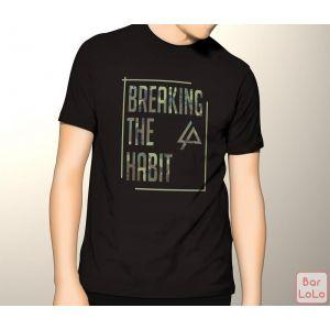 Men T-Shirt (Breaking The Habit) (L)-73922