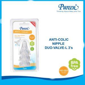 PUREEN ANTI-COLIC NIPPLE DUO VALVE L 3'S