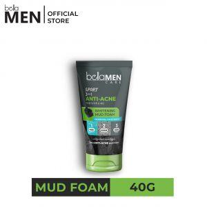 Bella Men Whitening Mud Foam 40g