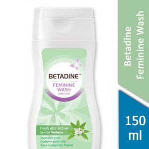 Betadine Feminine Wash (Fresh and Active Lemon Verbena) (150ml)