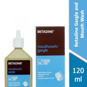 Betadine Gargle & Mouth Wash (120ml)