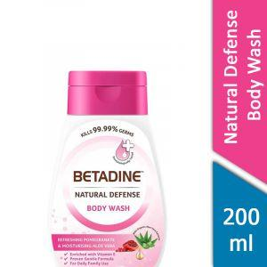 Betadine Natural Defense Body Wash (Refreshing Pomegranate and Moisturising Aloe Vera) (200ml)