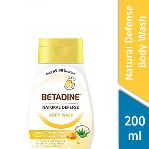 Betadine Natural Defense Body Wash (Nourishing Manuka Honey and Moisturising Aloe Vera) (200ml)