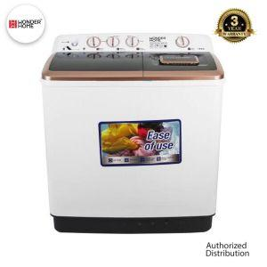 Wonder Home Turbo Dry Tech Semi Auto Twin Tub Washing Machine 13 KG (WH-WM-D13)