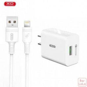 XO L36 QC3.0 USB Charger with Lightning Cable (XA0004)-67477