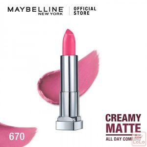 MAYBELLINE NEW YORK COLOR SENSATIONAL CREAMY MATTE LIPSTICK 670 RAVISHING ROSE  4.2G(K1797900)-67868