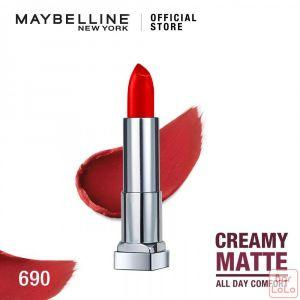 MAYBELLINE  NEW YORK COLOR SENSATIONAL CREAMY MATTE LIPSTICK 690 SIREN IN SCARLET 4.2G(G3531800)-67869