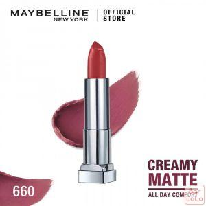 MAYBELLINE NEW YORK COLOR SENSATIONAL CREAMY MATTE LIPSTICK 660 TOUCH OF SPICE 4.2G(K1797700)-67871