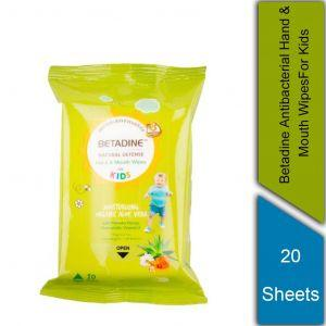 Betadine Antibacterial Hand and Mouth Wipes  (Kids ) (20's)