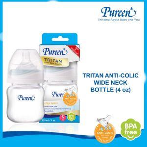 PUREEN TRITAN WIDE NECK BOTTLE 4 OZ WITH DUO-VALVE NIPPLE