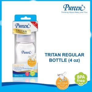 PUREEN TRITAN REGULAR BOTTLE 4 OZ WITH DUO-VALVE NIPPLE