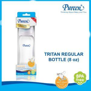 PUREEN TRITAN REGULAR BOTTLE 8 OZ WITH DUO-VALVE NIPPLE