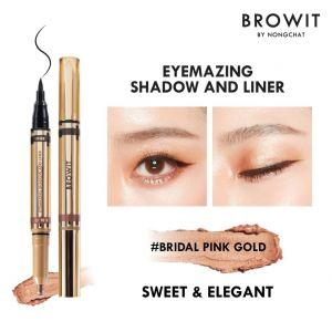 Browit Eyemazing Shadow & Liner (0.85ml + 0.60g)  (Bridal Pink Gold)