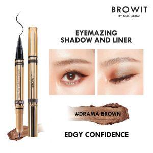 Browit Eyemazing Shadow & Liner (0.85ml + 0.60g) (Drama Brown)