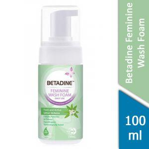 Betadine Feminine Wash Foam (Fresh and Active Lemon Verbena) (100ml)