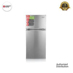Wonder Home Two Doors Refrigerator 210 Liters(Silver)