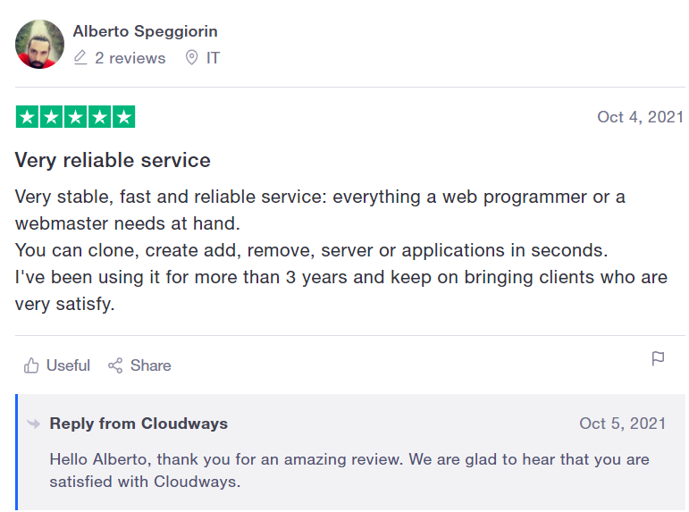 image 8 of Cloudway hosting site reviews