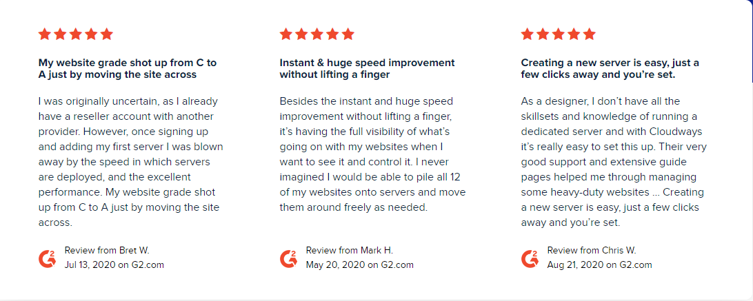 image of Cloudway hosting site reviews