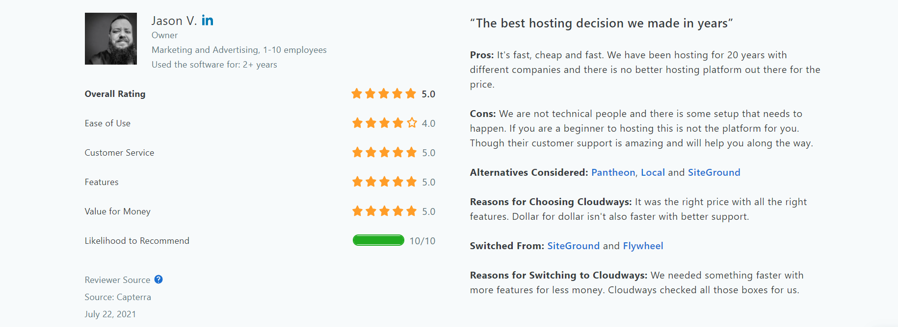 image 4 of Cloudway hosting site reviews
