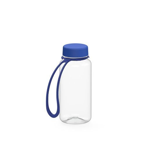 Trinkflasche 'Refresh' klar-transparent inkl. Strap 0, 4 l (transparent / blau) (Art.-Nr. CA180775)