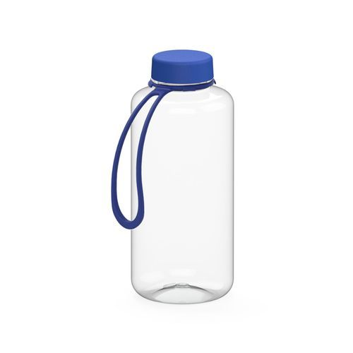 Trinkflasche 'Refresh' klar-transparent inkl. Strap, 1, 0 l (transparent / blau) (Art.-Nr. CA184662)